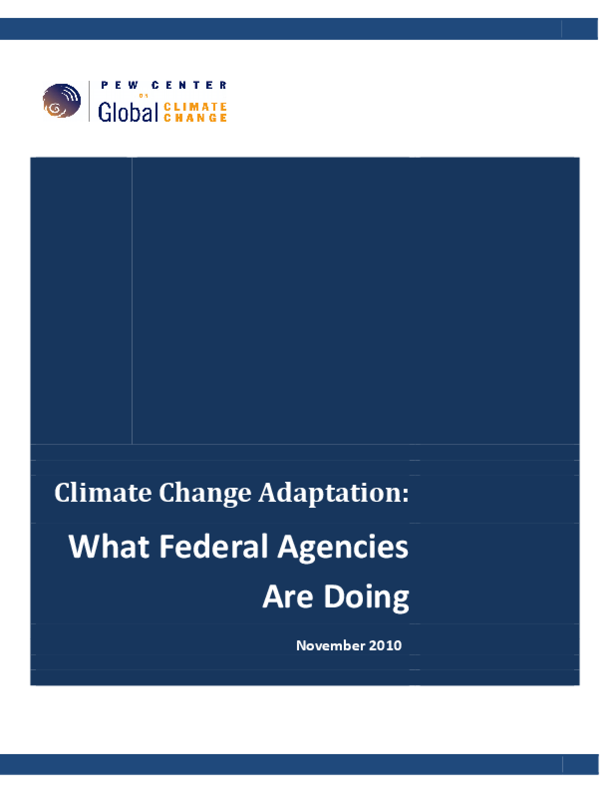 Climate Change Adaptation: What Federal Agencies Are Doing