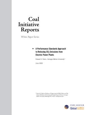 Coal Initiative Series: A Performance Standards Approach to Reducing CO2 Emissions from Electric Power Plants