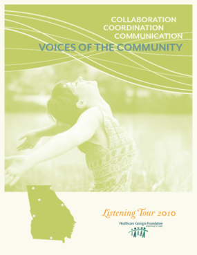 Collaboration, Coordination, Communication: Voices of the Community: Listening Tour 2010