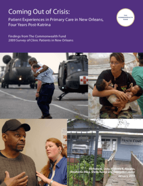 Coming Out of Crisis: Patient Experiences in Primary Care in New Orleans, Four Years Post-Katrina