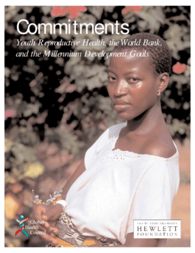 Commitments: Youth Reproductive Health, The World Bank and The Millennium Development Goals