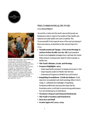 Commonwealth Fund - 2004 Annual Report