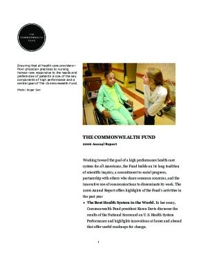 Commonwealth Fund - 2006 Annual Report