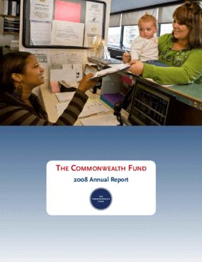 Commonwealth Fund - 2008 Annual Report