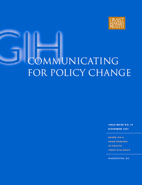 Communicating for Policy Change