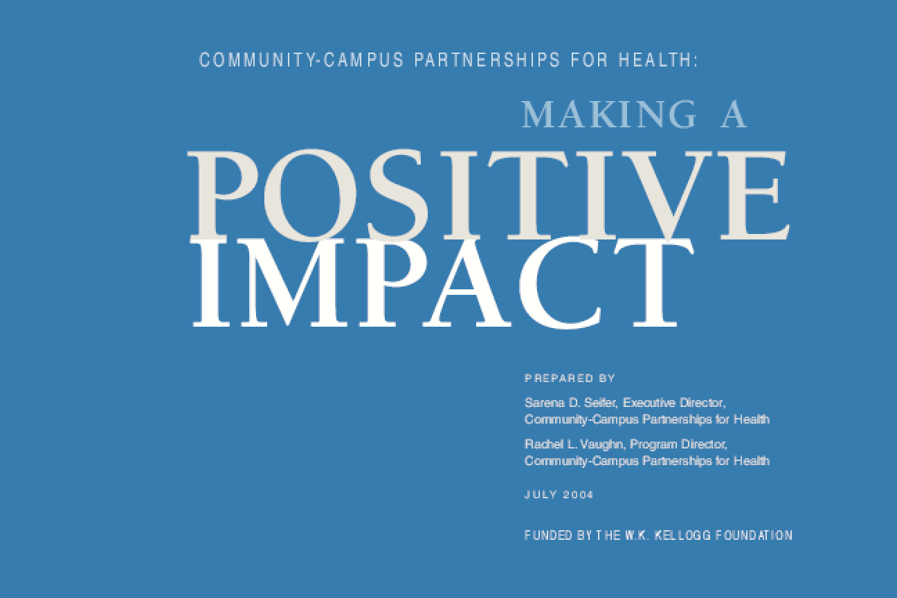 Community-Campus Partnerships for Health: Making a Positive Impact