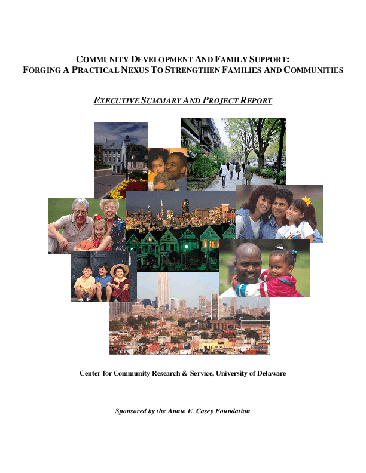 Community Development and Family Support: Forging a Practical Nexus to Strengthen Families and Communities