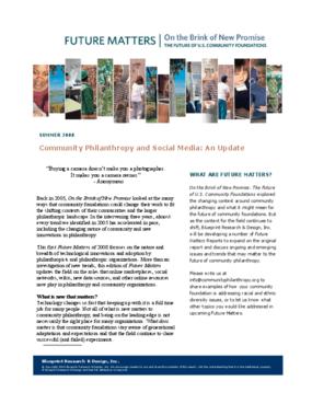 Community Philanthropy and Social Media