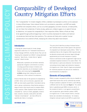 Comparability of Developed Country Mitigation Efforts