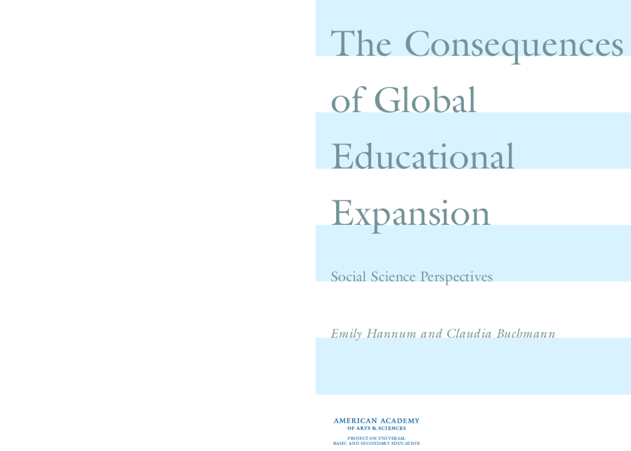 The Consequences of Global Educational Expansion