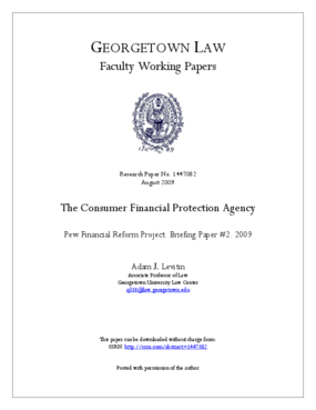 The Consumer Financial Protection Agency
