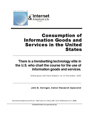 Consumption of Information Goods and Services in the United States