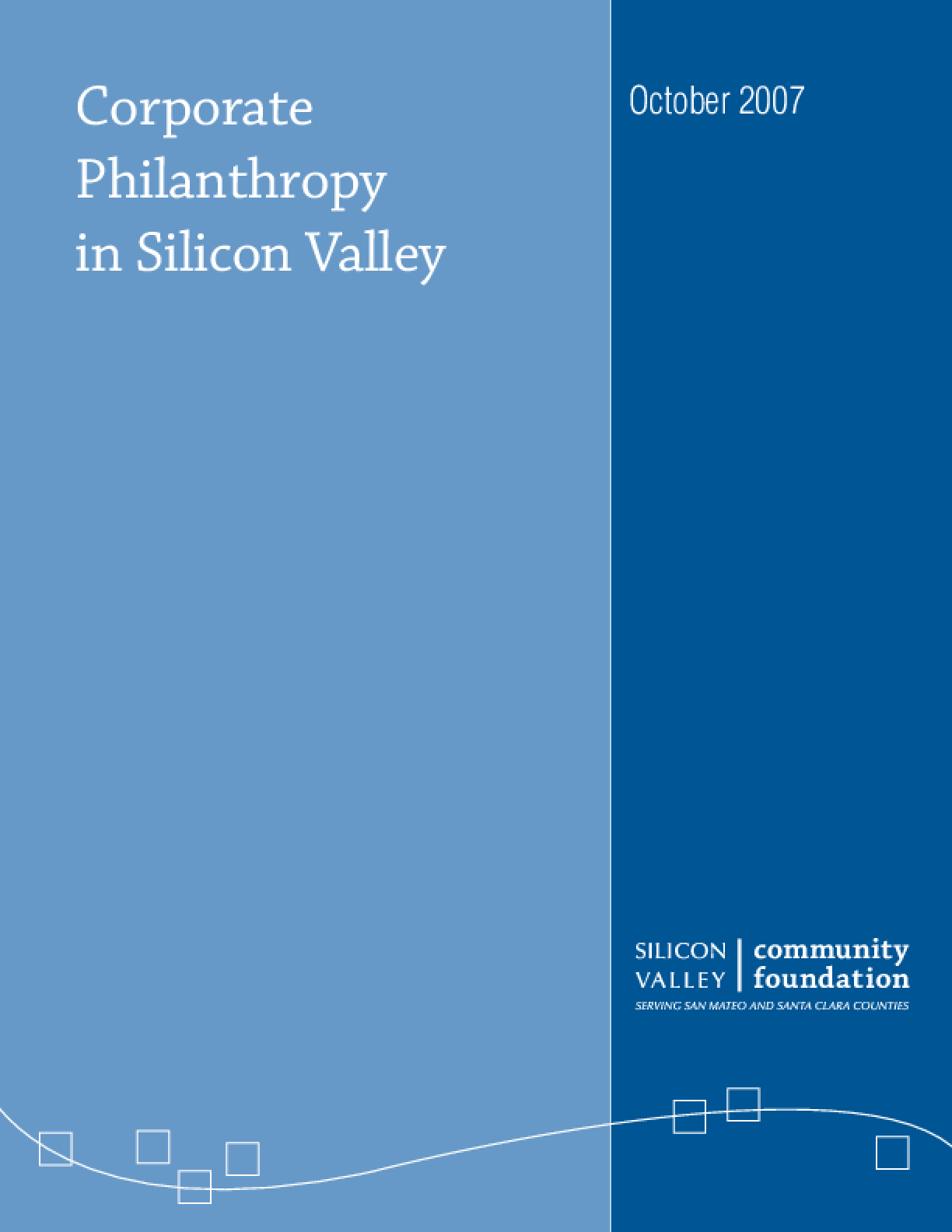 Corporate Philanthropy in Silicon Valley