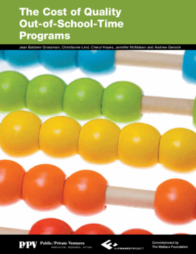 The Costs of Out-of-School Time Programs: A Review of the Available Evidence
