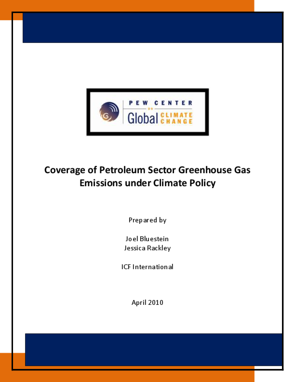 Coverage of Greenhouse Gas Emissions From Petroleum Use Under Climate Policy