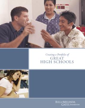 Creating a Portfolio of Great High Schools