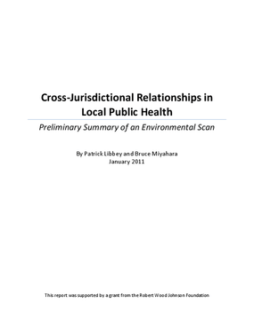 Cross-Jurisdictional Relationships in Local Public Health: Preliminary Summary of an Environmental Scan