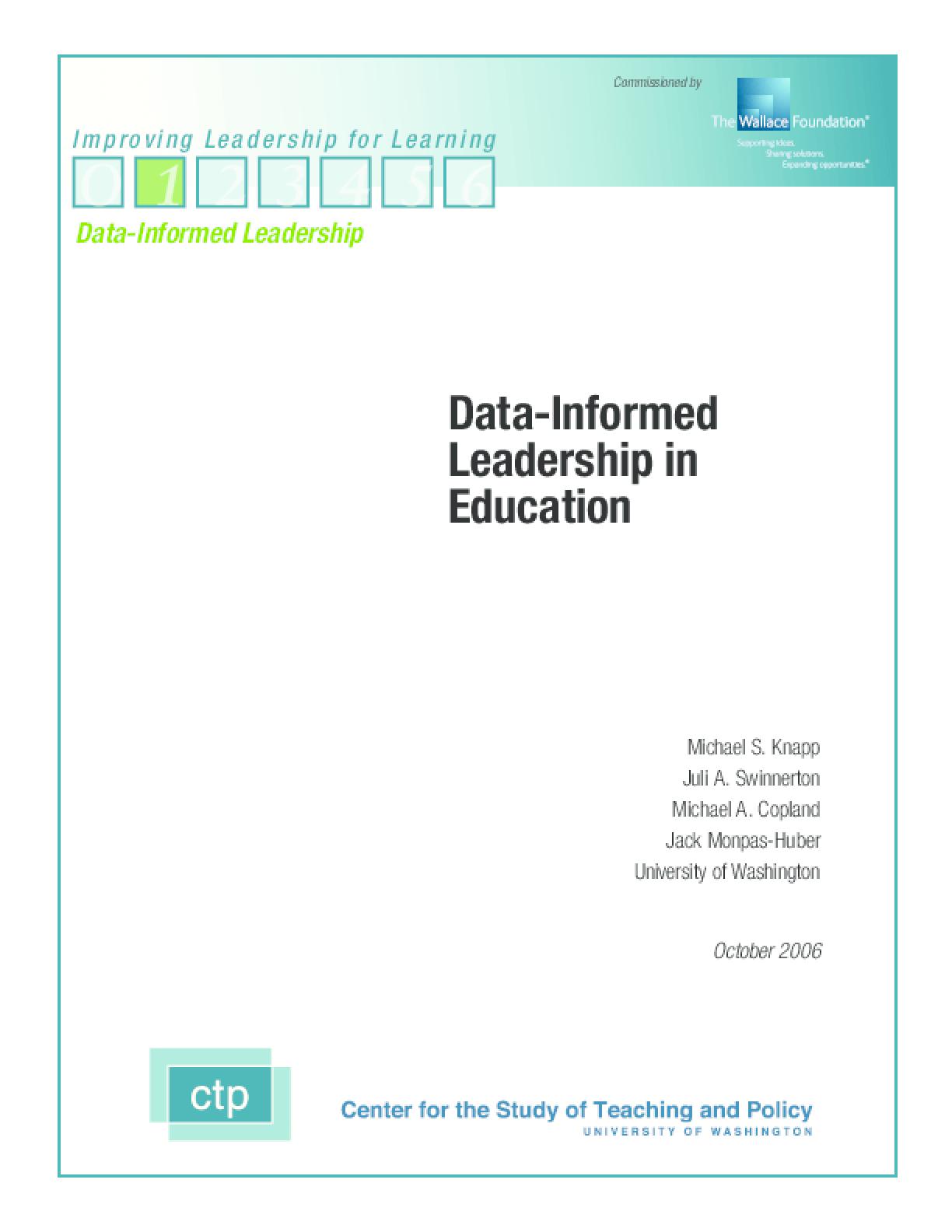 Data-Informed Leadership in Education