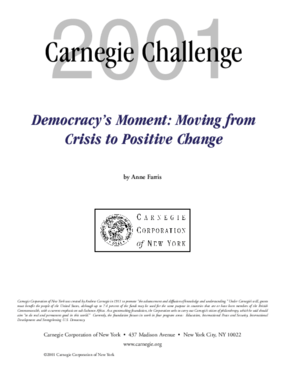 Democracy's Moment: Moving From Crisis to Positive Change