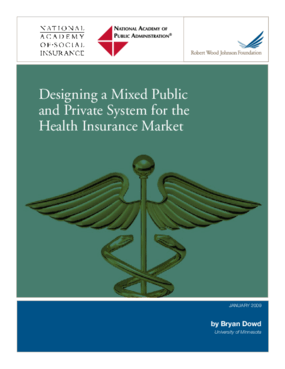 Designing a Mixed Public and Private System for the Health Insurance Market