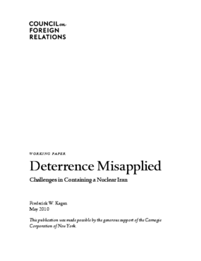 Deterrence Misapplied: Challenges in Containing a Nuclear Iran