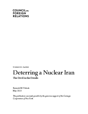 Deterring a Nuclear Iran: The Devil in the Details