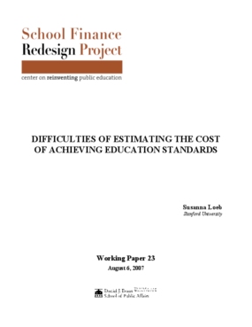 Difficulties of Estimating the Cost of Achieving Education Standards