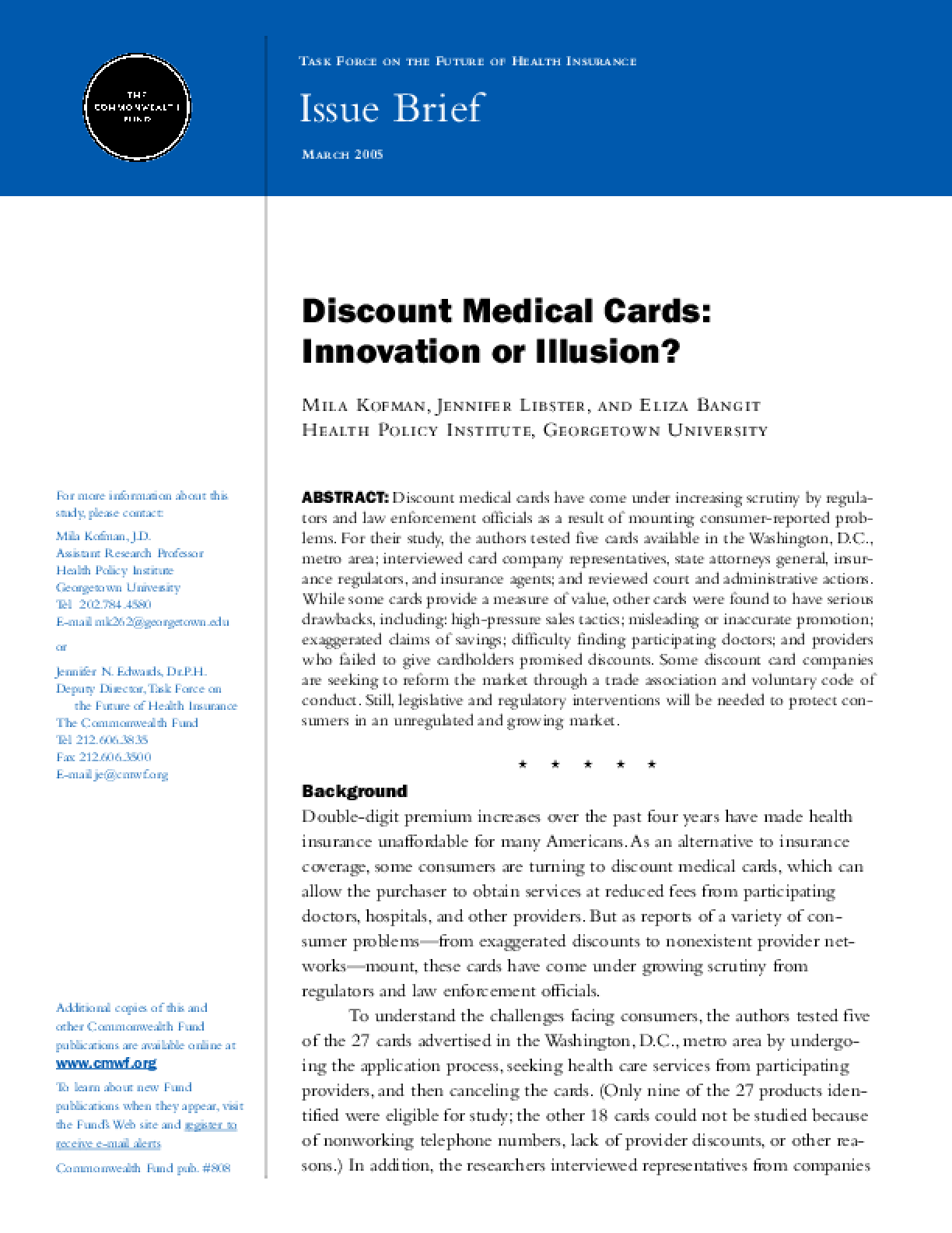 Discount Medical Cards: Innovation or Illusion?
