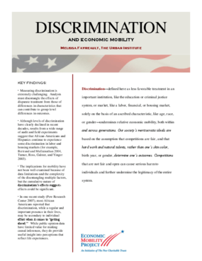 Discrimination and Economic Mobility