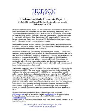 Hudson Institute Economic Report 02-29-2008