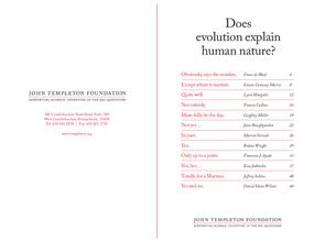 Does Evolution Explain Human Nature?