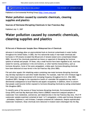 Down the Drain: Sources of Hormone-Disrupting Chemicals in San Francisco Bay