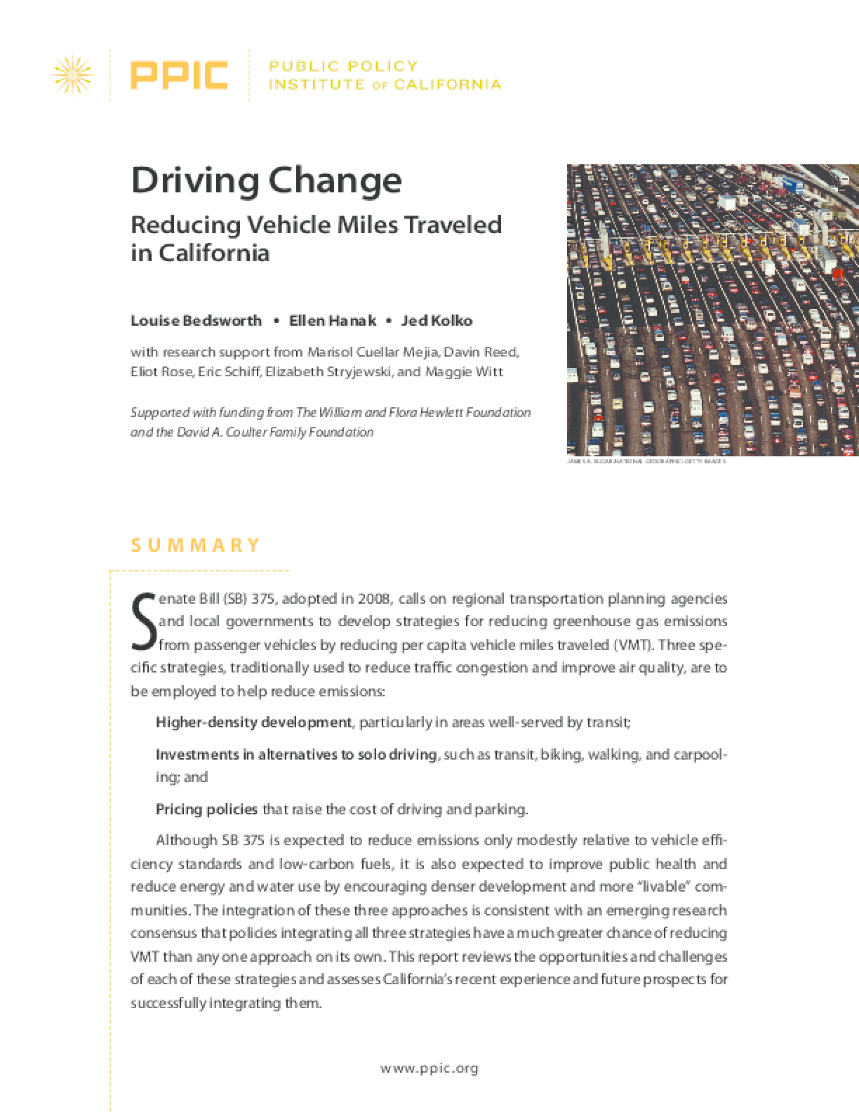 Driving Change: Reducing Vehicle Miles Traveled in California