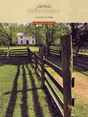 Duke Endowment - 2007 Annual Report