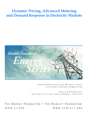 Dynamic Pricing, Advanced Metering, and Demand Response in Electricity Markets