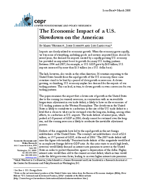 The Economic Impact of a U.S. Slowdown on the Americas