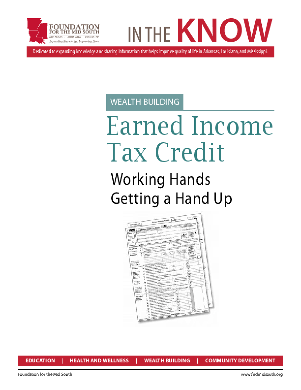 Earned Income Tax Credit: Working Hands Getting a Hand Up