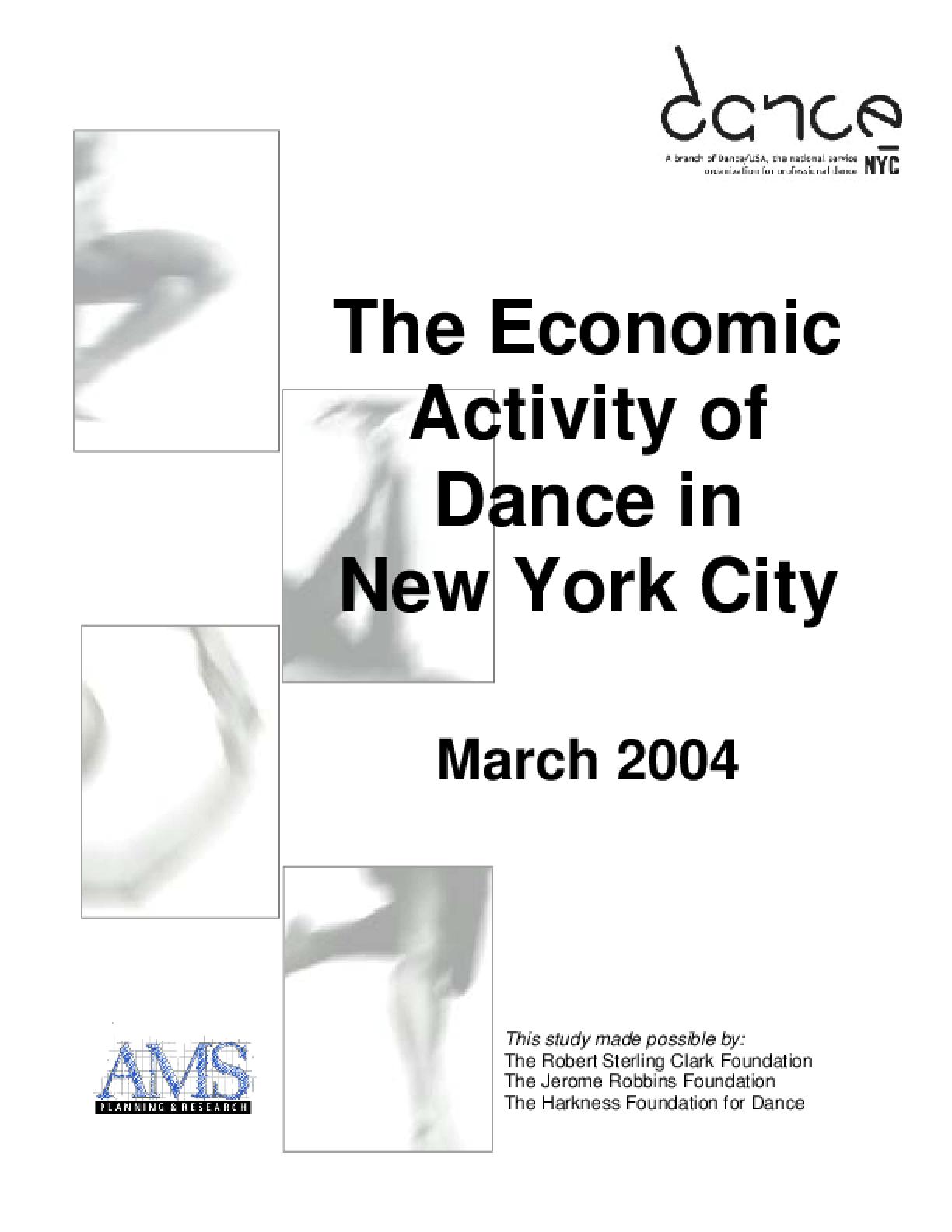 The Economic Activity of Dance in New York City: Executive Summary