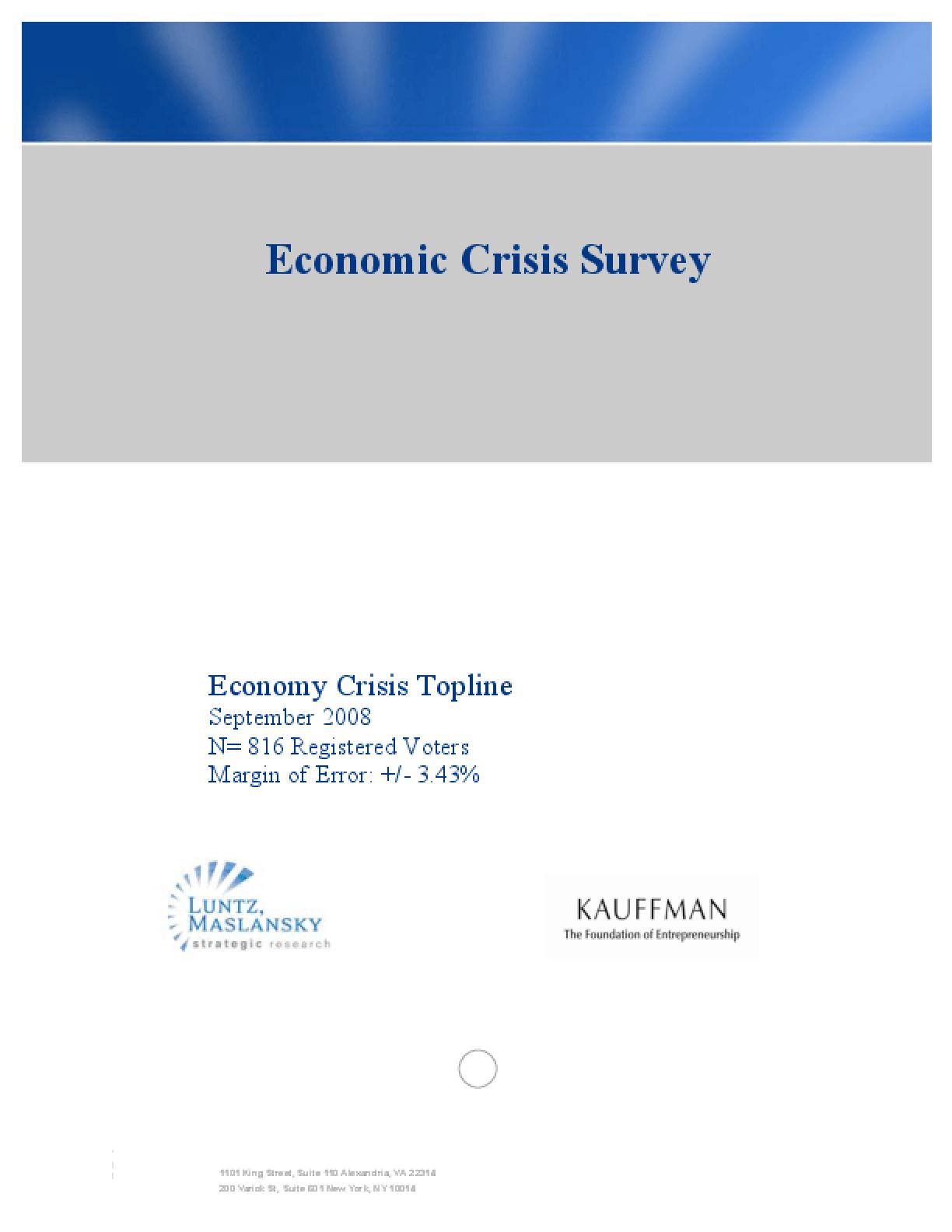 Economic Crisis Survey