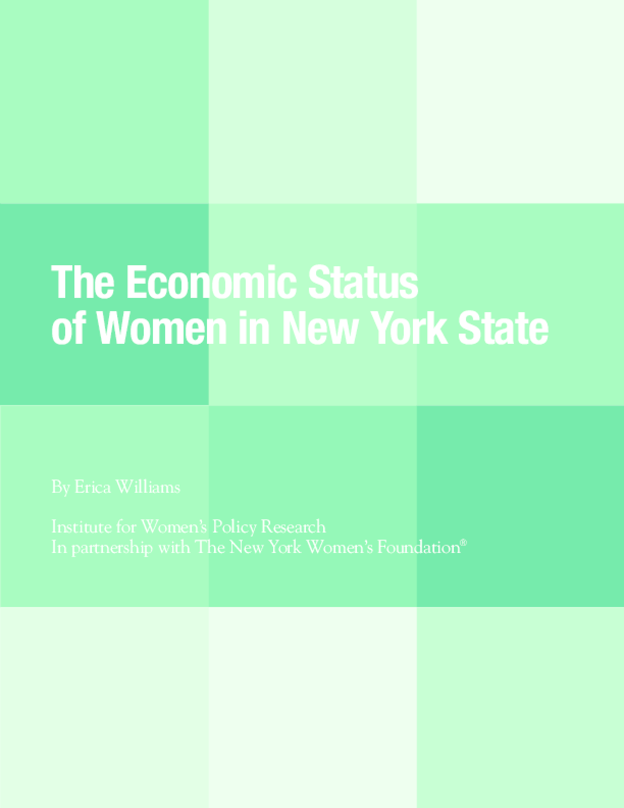 The Economic Status of Women in New York State