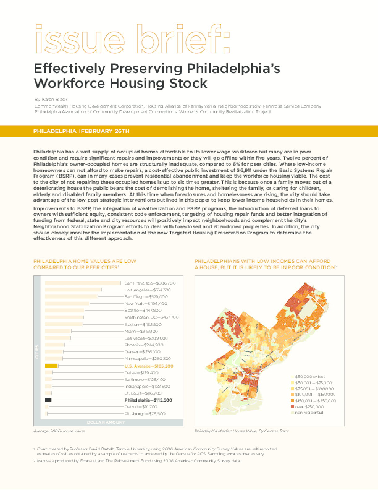 Effectively Preserving Philadelphia's Workforce Housing Stock