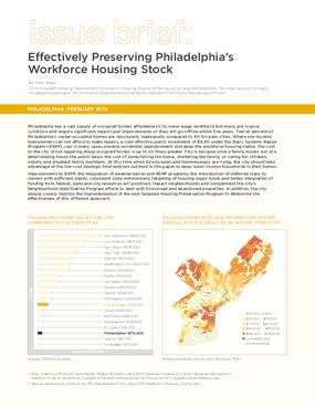 Effectively Preserving Philadelphia's Workforce Housing Stock