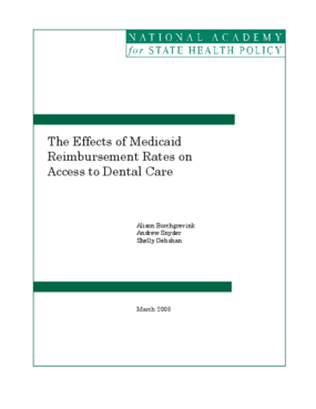 The Effects of Medicaid Reimbursement Rates on Access to Dental Care