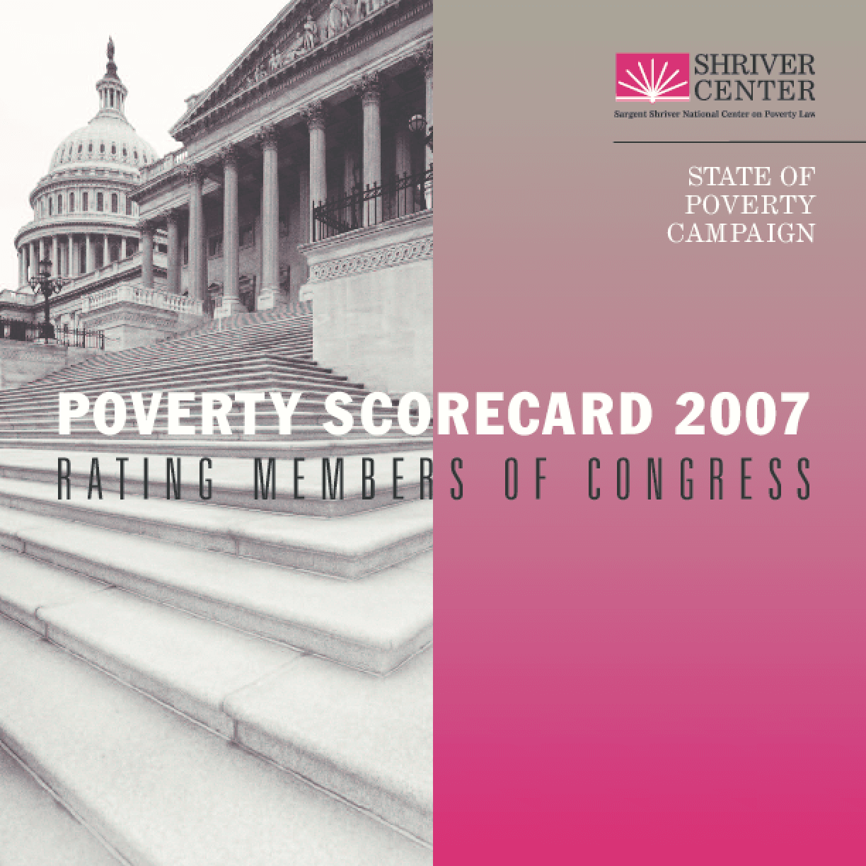 The 2007 Poverty Scorecard: Rating Members of Congress