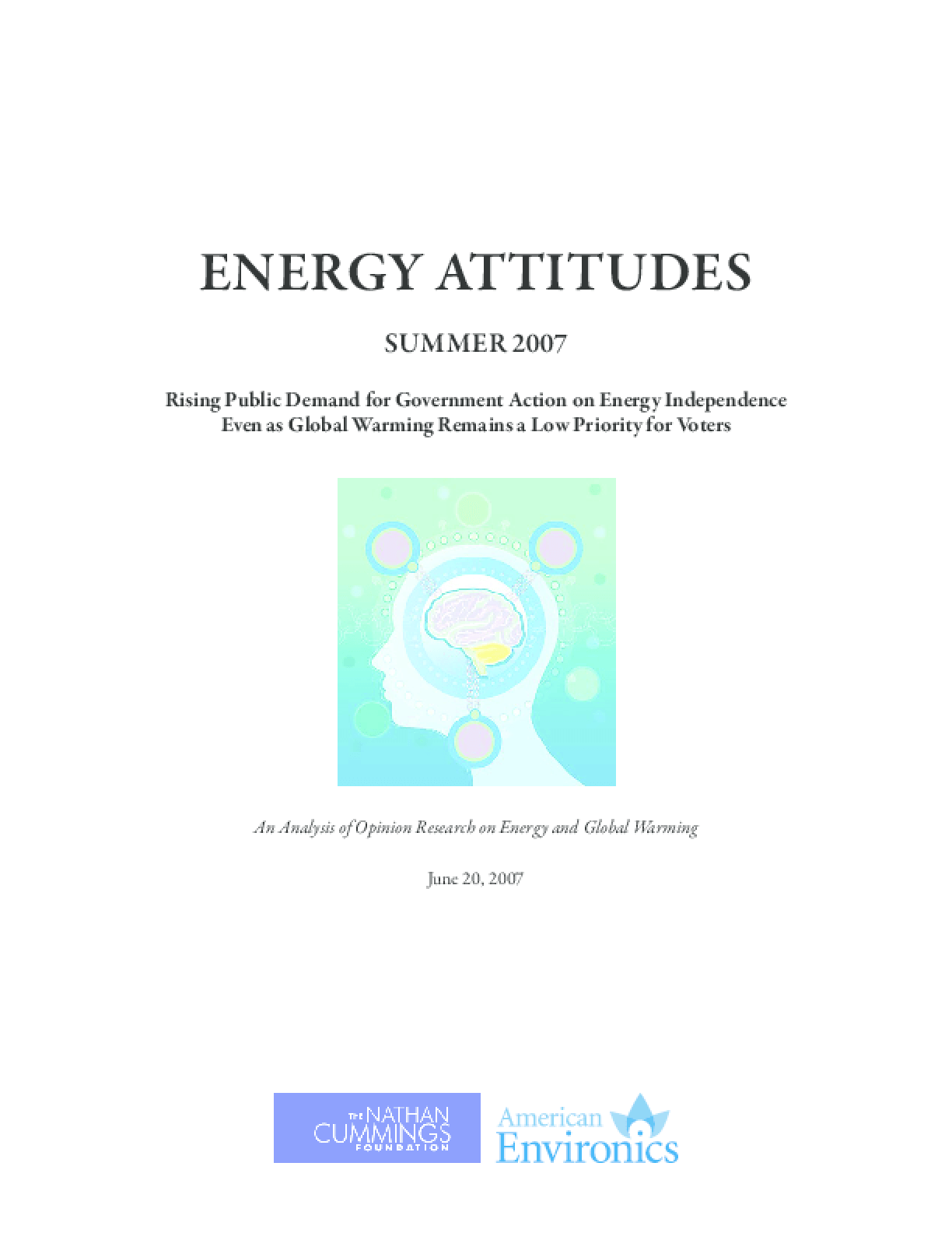 Energy Attitudes: An Analysis of Opinion Research on Energy and Global Warming