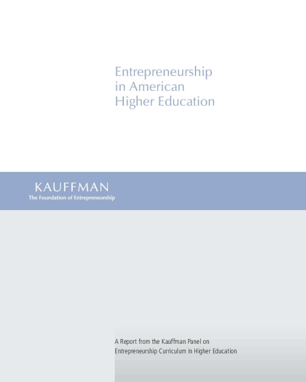 Entrepreneurship in American Higher Education
