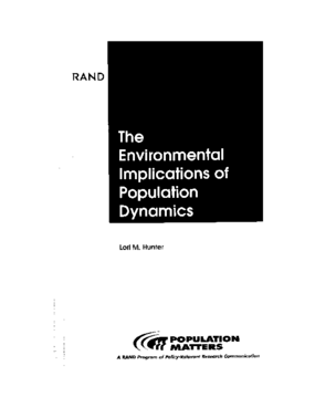 The Environmental Implications of Population Dynamics