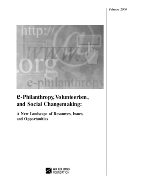 e-Philanthropy, Volunteerism, and Social Changemaking: A New Landscape of Resources, Issues, and Opportunities