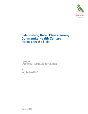 Establishing Retail Clinics Among Community Health Centers: Notes From the Field