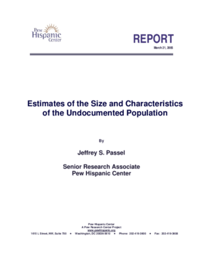 Estimates of the Size and Characteristics of the Undocumented Population